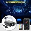 Звуковая активная Автомобильная волоконно-оптическая лампа с управлением через приложение Bluetooth 12В Звездный потолочный светильник с 260 шт. ...