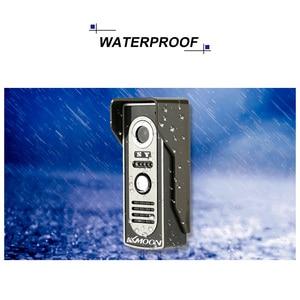 Image 2 - KKmoon видео домофон 7  TFT LCD Проводной Видео Телефон Двери Видео Видеодомофон Громкой Домофон С Водонепроницаемая Открытый ИК Камеры