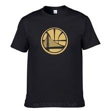 Guerreiros fãs men tshirt verão algodão tshirt dourado estado repetir 3 temporada ouro estampagem harajuku tshirt topos camisetas dropshipping
