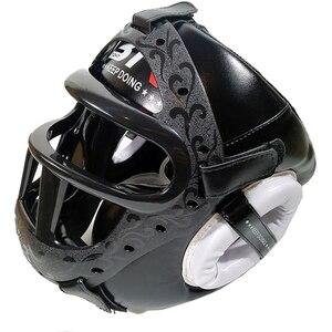 Image 1 - Kids/Adults MMA Sparring Muay Thai Boxing Helmet W/Mask Taekwondo Martial Arts Headgear Training Protective Head Protector DEO