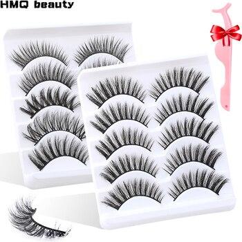 5/15 pares 3d vison cabelo cílios postiços natural grosso longo curl eye lashes wispy maquiagem beleza extensão ferramentas