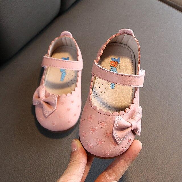 Jesień łuk szpilki dla dzieci skórzane buty dla sukienka dla dziewczynki maluch księżniczka dziewczynka suknia ślubna buty dla dzieci 1 2 3 4 5 6 roku życia