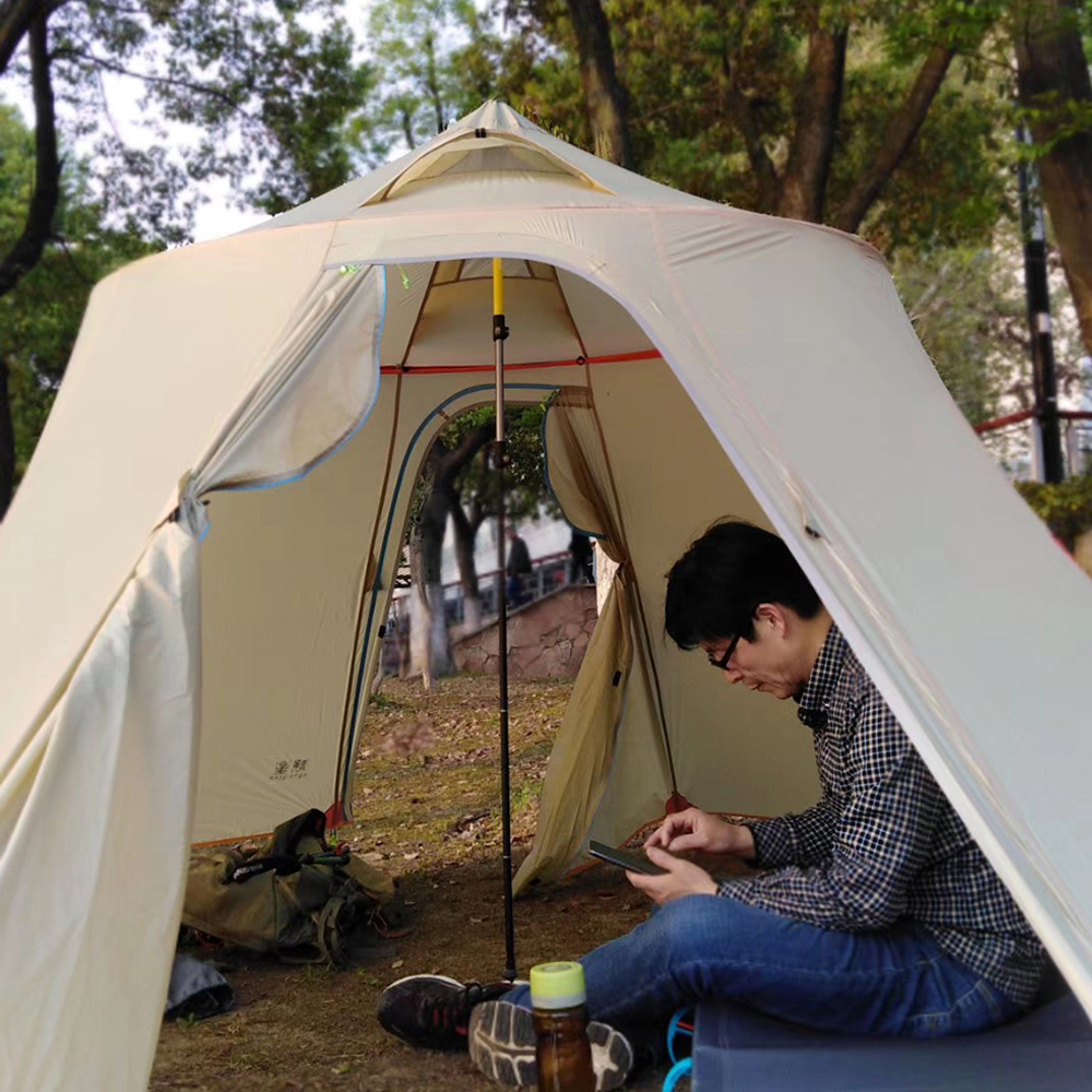 Professional Camping Tent With Extendable Pole For Suitable For Travel And Camping