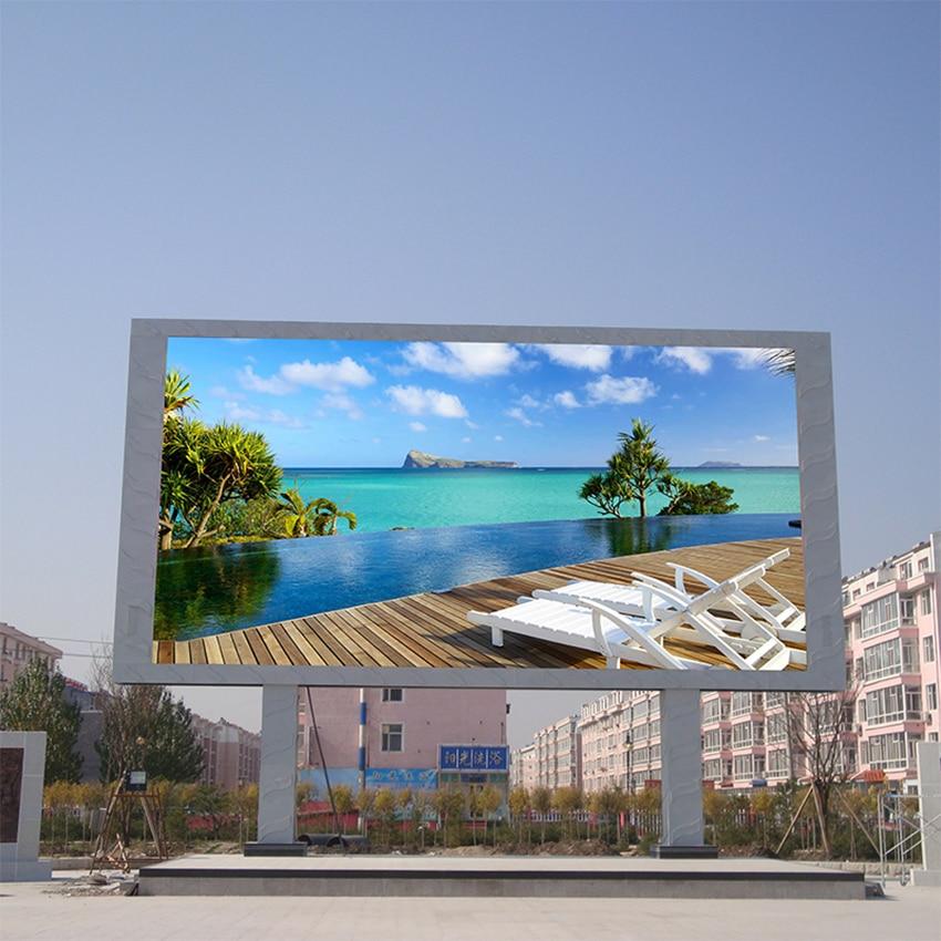 P6 Outdoor LED Display Big Screen 512X512mm Die Casting Aluminum Cabinet HD High Brightness Waterproof Advertising Billboard