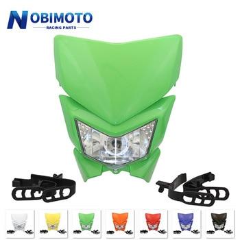 Motorcycle Headlight Headlamp Motorbike Head Lamp Mask Refires 12V 35W 4WD For KLX450 250 Dirt Bikes Motocross