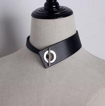 цена на European Choker Dark Punk Necklace Collar Japanese Collar Pu Leather Metal Buckle Short Necklace Jewelry