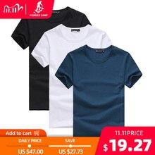 Pioneer camp pacote de 3 promoção de manga curta camiseta masculina roupas de marca verão sólido t camisa masculina casual