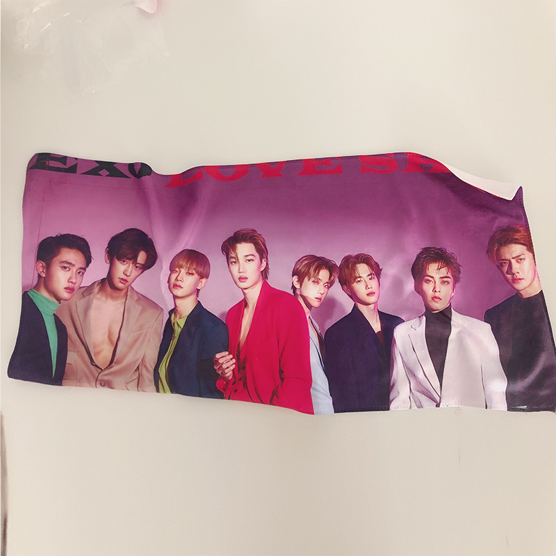 Kpop Exo Towel Home Furnishing Face Towel Chanyeol  Women Kai DO Suho Chen Baekhyun Merchandise