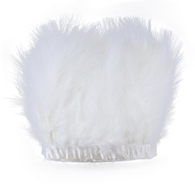 1 meter White Fluffy Soft Marabou feather Fringe Trimming 10-15CM Dyed Colorful Turkey feather trims for Craft  Party Accessory 2yards lot turkey feather fringe ribbon 5 6inch chandelle marabou turkey feathers trim skirt dress feather decoration plumas diy