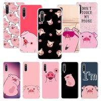 Nette ROSA Kawai Schwein Telefon Fall Für Xiaomi Mi Hinweis 10 11 9 8 10T 9T CC9 A1 a2 A3 5X 6X Pocophone F1 X3 F2 Pro Lite Coque Abdeckung