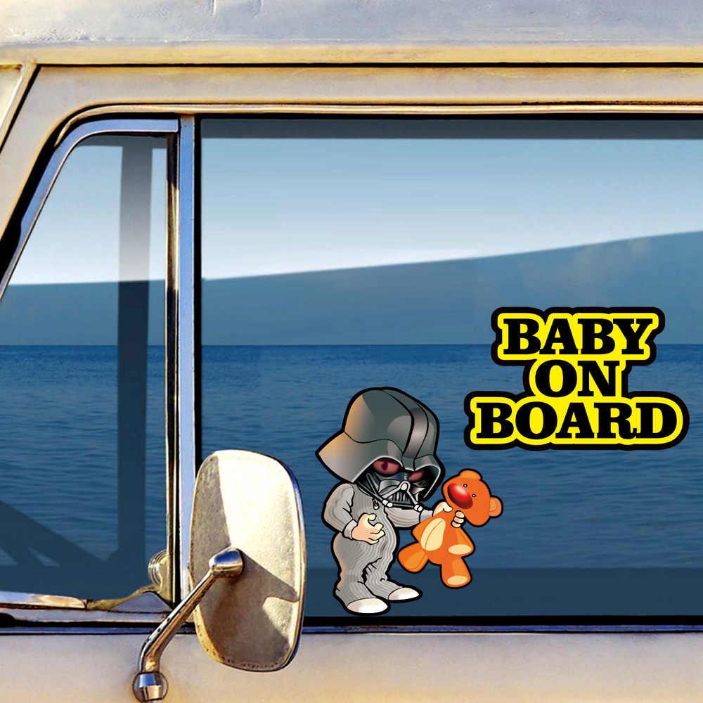 Aliauto bébé à bord super-héros voiture autocollant réfléchissant décalcomanie accessoires vinyle pour Volkswagen Polo Golf Peugeot 206 BMW