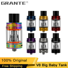 100% Authentic Grante V8 Big Baby Tank With 5ml Top Filling V8 Big Baby Beast Atomizer For SMOKE G-Priv Alien Mod Vape E-cigs 100% original smok tfv8 big baby beast tank atomizer 2ml eu version w v8 baby q2 eu core top refill system 0 4ohm vs tfv12