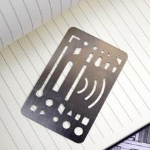3pcs Creative Erasing Template Precise Stainless Steel Erasing Shield Craft Drawing Drafting Tool Erasing School Home Enterprise