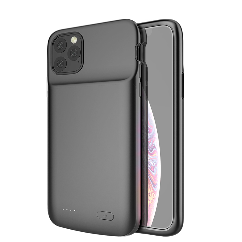 Líquido de silicone à prova de choque Caso Carregador de Bateria Para iPhone Caso Poder Extenal 11 Pro Max Power Bank Cove Para iPhone 11 pro Capa