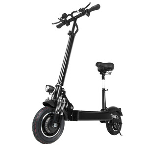 janobike electric scooter adult 52V/2000W 10 inch road tire folding electric scooter double motor electric motorcycle