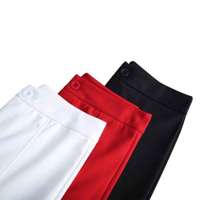 Colored Women Flare Trousers Spring Summer Office High Waist Slim Fit Solid Stretchy Bell Casual Pants Big Size S-3XL