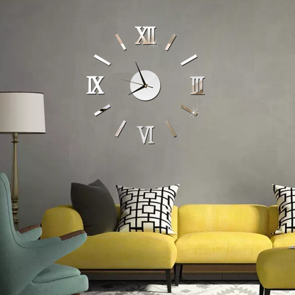 3D Wall Clock Mirror Wall Stickers Fashion Living Room Quartz Watch DIY Home Decoration Clocks Sticker reloj de pared 10