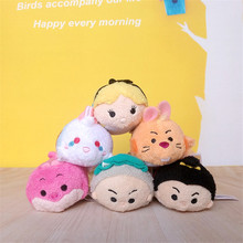 DISNEY TSUM TSUM  Alice in Wonderland White Rabbit Cheshire cat Stuffed Plush Toys Kawaii Plush Small Pendant Gifts for Kids