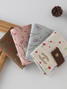 Bag Wallet Cash-Holder Business-Bank-Card Canvas Women Fashion ID Floral 20pcs PA840075