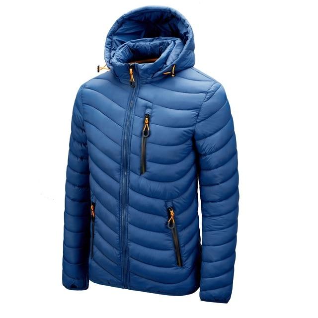 Warm Jacket Men Windbreaker 2021 Latest New Spring Autumn Hooded Soft Parkas Men's Fashion Casual High Quality Jacket Coat Male 1