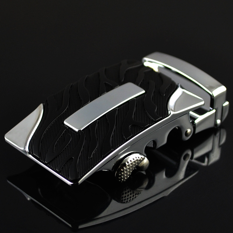 Fashion Men's Business Alloy Automatic Buckle Unique Men Plaque Belt Buckles For3.5cm Ratchet Men Apparel Accessories LY125-0367