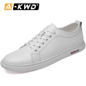 Fashion Men Designer Shoes Black White Sneakers Men Summer Breathable Designer Trainers Mens Shoes Genuine Leather zapato hombre