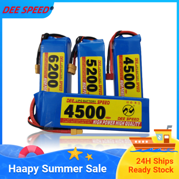 Dee 3S RC Lithium Battery 11.1V 3500 4200 5200 6000mAh 25C 35C 60C for UAV Helicopter Car fimi X8 se rc drift car boot 3S LiPo image