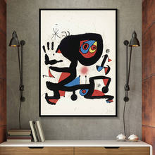 Joan miro абстрактные акварельные настенные художественные плакаты