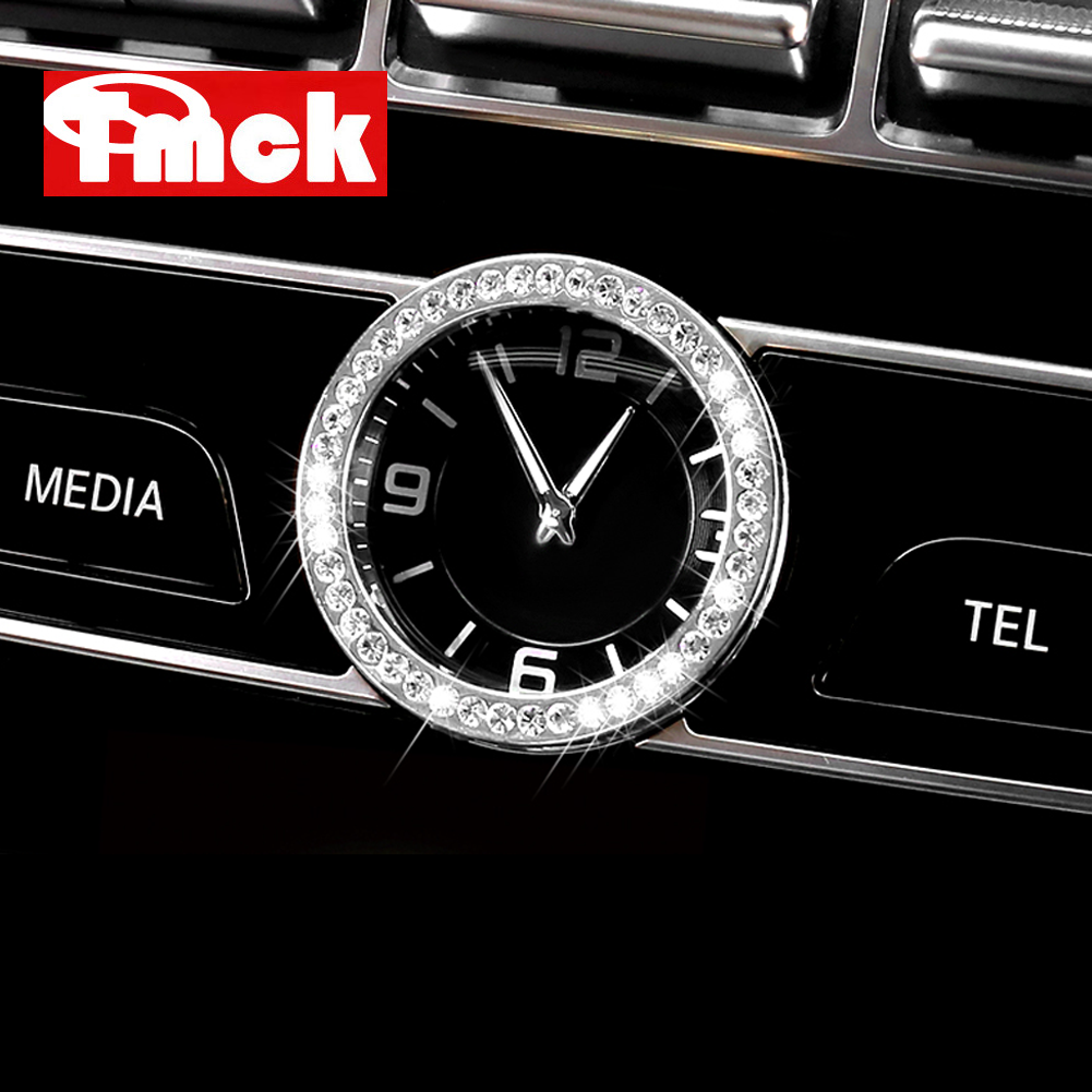 For Mercedes Benz C E S CLS GLC W205 W212 W213 W222 W218 X253 Car Accessories Central Clock Table Watch Ring Trim Diamond Cover image