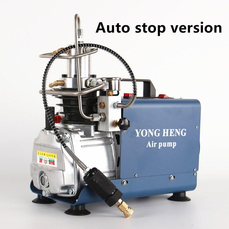 300bar 30mpa 4500psi compressor de ar elétrico de alta pressão da bomba ar para pneumático carabina scuba rifle pcp inflator 220v 110v - 2