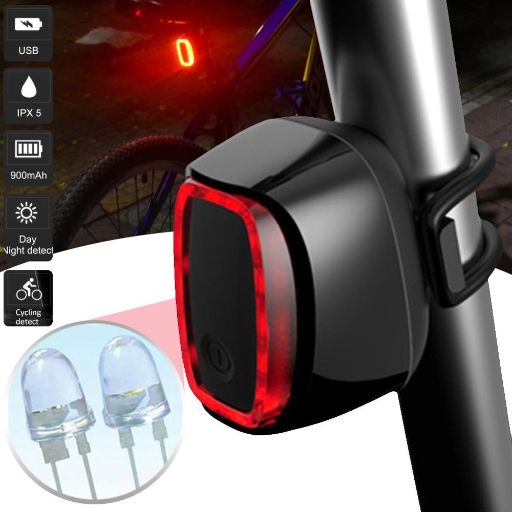 Bicycle Smart Auto Brake Sensing Light Waterproof LED Charging Cycling Taillight Bike Rear Light Accessories