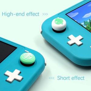 Image 3 - Animal Crossing Welpen Isabelle Bär Blatt Thumb Stick Grip Cap Joystick Abdeckung Für Nintendo Schalter NS Lite Freude con controller Fall