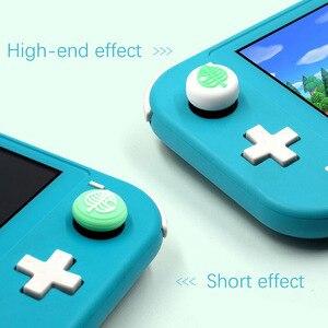 Image 3 - Hayvan geçişi köpek Isabelle ayı yaprak Thumb çubuk kavrama Cap Joystick kapak Nintendo anahtarı NS için Lite Joy con kumanda muhafazası