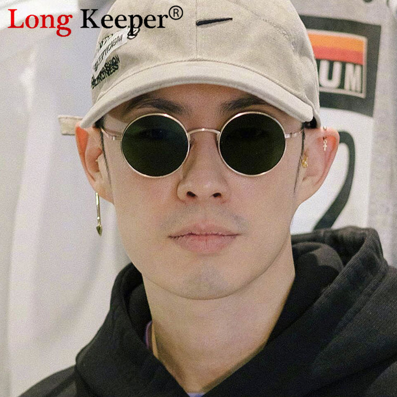 Round Men Sunglasses 2020 Luxury Brand Small Frame Black Sun Glasses Women Alloy Vintage Retro Sexy Hip Hop Shades Goggle Oculos