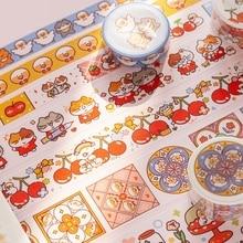 Прекрасный кот с уткой маскирующая васи лента DIY декоративная клейкая лента для дневник в стиле Скрапбукинг Украшение каваи канцелярские принадлежности подарок