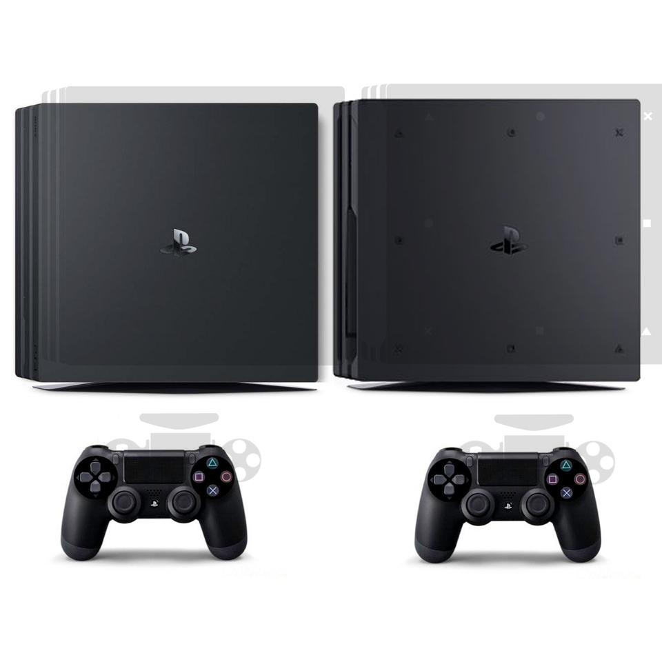 Transparent Clear Skin Sticker Vinyl For Sony Ps4 Pro Playstation 4 Pro And 2 Controller Skins Stickers Stickers Aliexpress