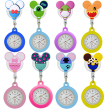 Silicone Pocket Watches Doctor Gift Medical Hospital Nurse Cartoon-Models Retractable