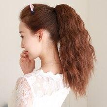 """LUPU тепло-устойчивый хвост 1"""" короткие волнистые повязки дамы волос булочка синтетический высокой температуры волокна натуральные волнистые волосы"""