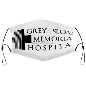 Пылезащитная маска с фильтром серая Слоан Мемориал больница серая Анатомия женский слоган Tumblr рот маска для лица
