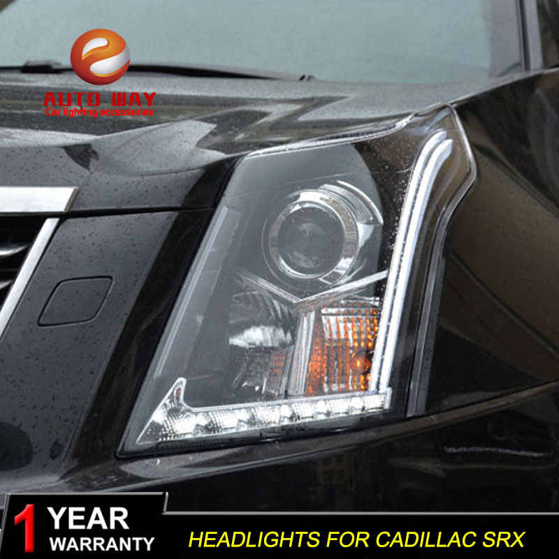 Auto Styling Hoofd Lamp Case Voor Cadillac Srx 2010-2014 Led Koplampen Cadillac Srx Koplamp Dagrijverlichting Bi -Xenon Hid