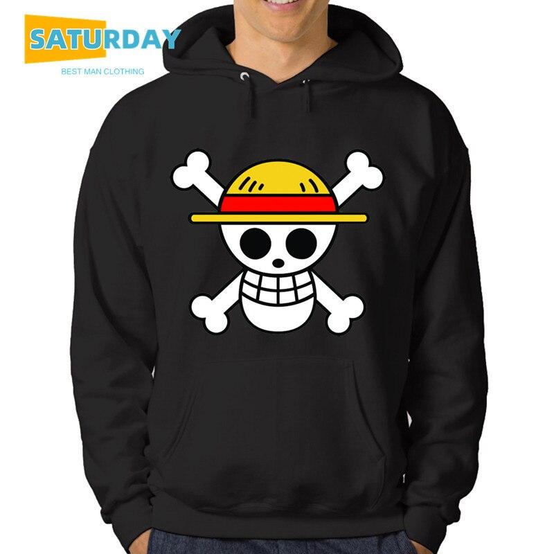 Men's Anime One Piece Luffy Fleece Hoodie Women Winter Manga Sweatshirts Boy Girl Clothes,Drop Ship