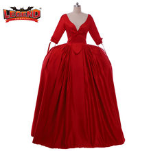 Cosplay légende TV Outlander Claire Randall Fraser Cosplay déguisement Claire rouge robe médiévale Rococo robe sur mesure H001