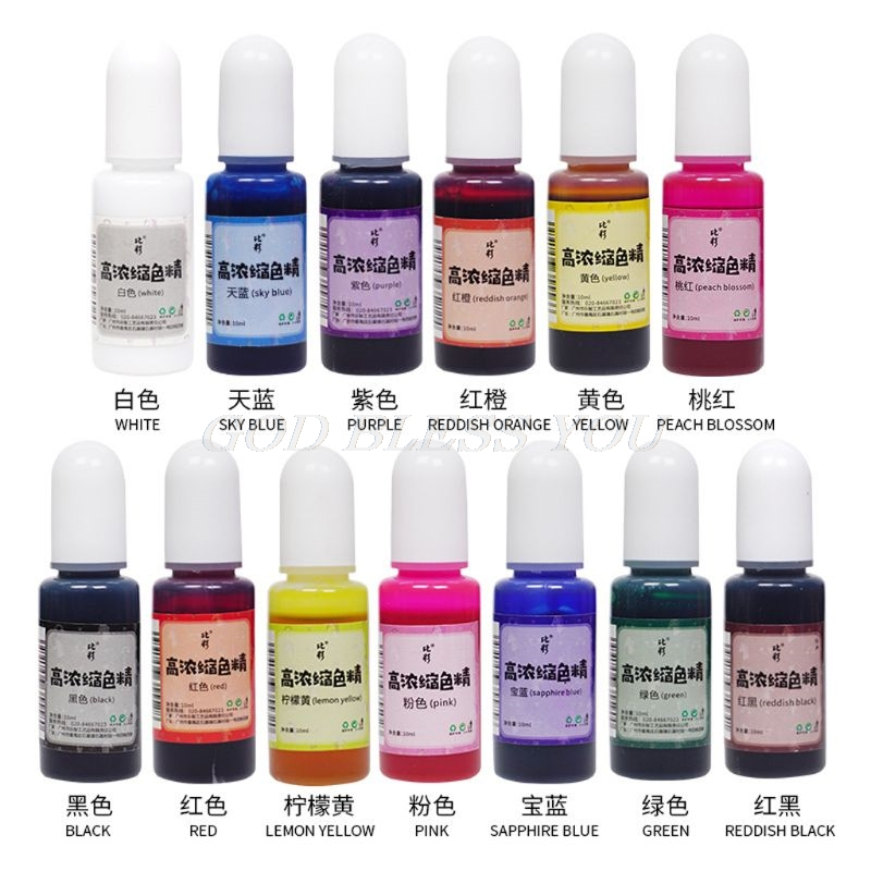 10ML Flower Favor Epoxy Resin Pigment Ink Colorant Dye Resin Jewelry Making Tool Pigment
