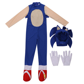 Children Sonic The Hedgehog Costume Cosplay Halloween Costume For Kids Carnival Party Suit Dress Up princess bell dress purple mesh beauty and the beast a line cosplay dress kids carnival costume halloween party show vestido