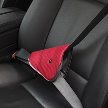 Car for Childrens Mesh Safety Belt Regulator Mounted Practical Triangular Fixed Device Sheath