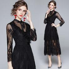 Женское кружевное платье simgent Элегантное повседневное средней