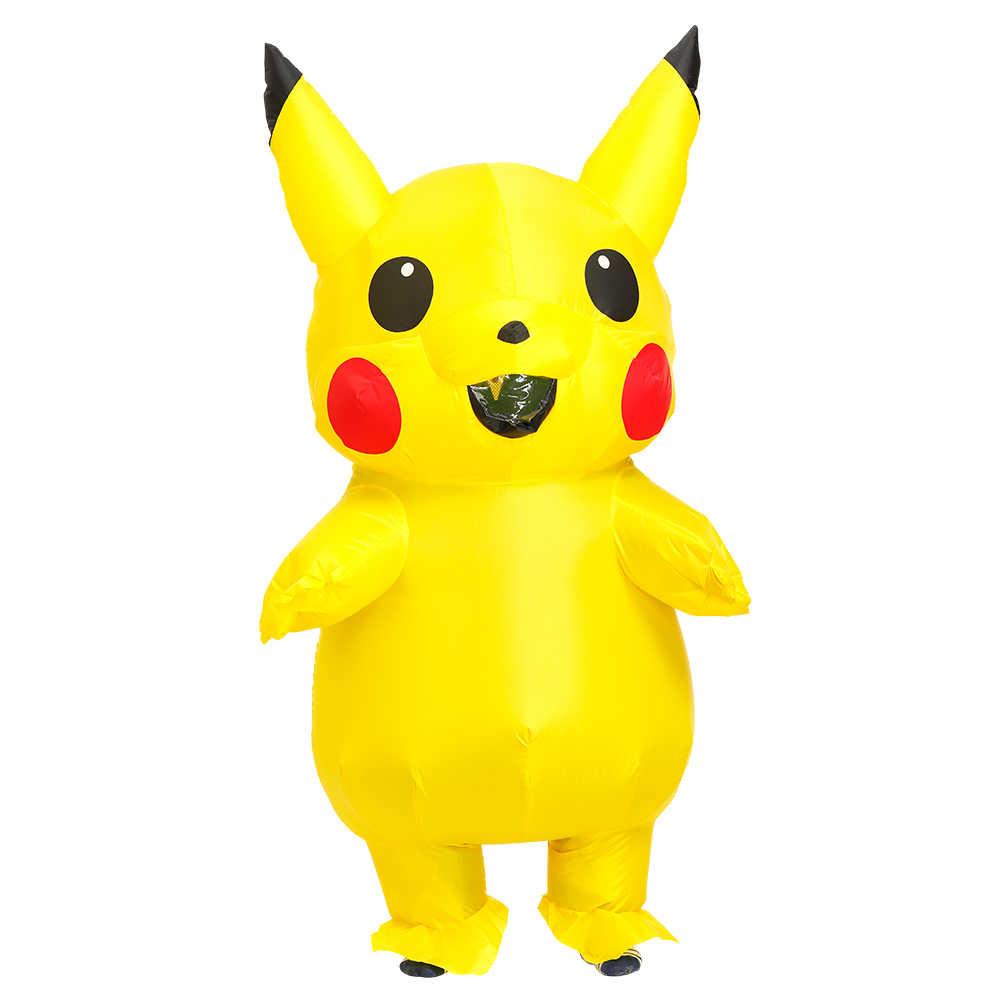 Gonfiabile Pikachu Costumi Cosplay Pokemon Costume Della Mascotte per I Bambini Adulti Del Partito di Natale del Costume di Halloween per le donne degli uomini
