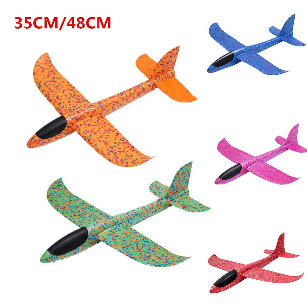 2019 Children Hand Throw Flying Glider Planes Toys Kids Foam Aeroplane Model Children Outdoor Fun Toys 48CM/35CM