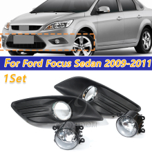 цена на COOYIDOM 1set Lower Bumper Fog Light + Fog light grille Kit For Ford Focus Sedan 4 door 2009 2010 2011 auto parts