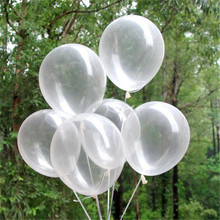10pcs/lot 12inch 2.8g Clear Latex Balloons Transparent Balloon For Wedding Party Happy birthday party decorations kids